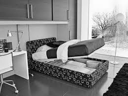 Monochrome Bedroom Design Bedroom With Study Table