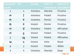 Ipa Chart Voiced And Voiceless Sounds
