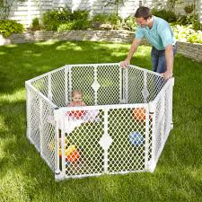 super play yard area child baby safety gate indoor outdoor toddler playground