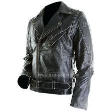 slim leather jacket mens