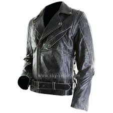 slim leather jacket mens