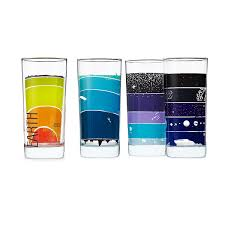 earth science glasses set of 4