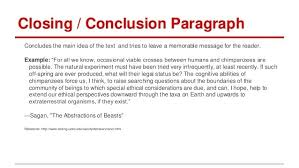 Conclusion Paragraph Example For Essay Examples And Forms
