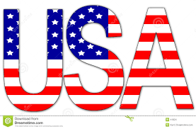 41824 Usa Illustration America Text Stock Illustration Of - White