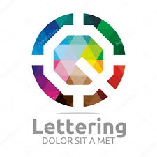 Abstract Logo Lettering Q Rainbow Alphabet Design Vector  Stock Vector  #79433092