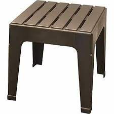 small outdoor plastic resin table