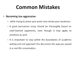 argumentative persuasive essay ppt  23 common