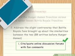 how to write an outline sample outlines wikihow image titled write an outline step 7