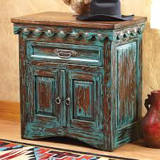 Star Bedroom Furniture San Miguel Turquoise Nightstand