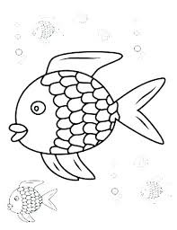 Free Fish Coloring Pages Pdf Rainbow Fish Coloring Page Rainbow Fish