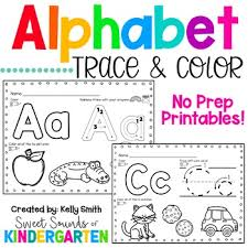 The theme of each letter is from our popular alphabet flash coloring the alphabet is a good way to introduce the youngest learners to letters of the alphabet through an activity they like. Alphabet Trace And Color Worksheets Teaching Resources Tpt