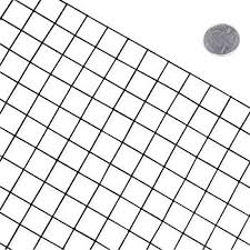 fencer wire 16 gauge black vinyl coated welded wire mesh size 1 inch by 1 inch 3 ft x 50 ft