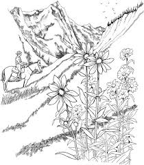 Free Coloring Pages For Adults To Print And Color Landscapes