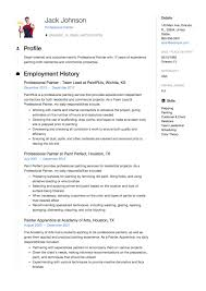 Painter Resume 24 Professional Painter Resume Samples ResumeViking 12