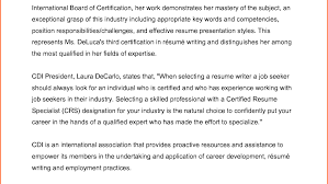 Resume Contact Us Wonderful Certified Resume Writer Certified