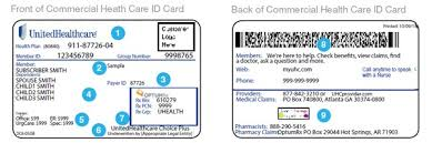 Myuhc Chart Healthcare Identification Id Card 2019 Administrative