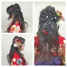 着物に合うヘアセットまとめ髪からダウンスタイルまで Hair