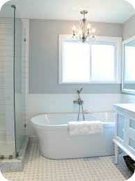 Glass Tubs Bathroom Fascinating Retro White Bathtub With Classy Pendant Lamp