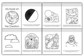 6 Days Of Creation Pictures Pages Of Coloring Book Have Children