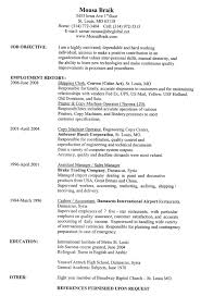 Professional Resume Sample Word Format Resume Word Doc