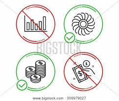 Do Stop Coins Fan Vector Photo Free Trial Bigstock