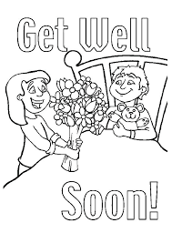 Get Well Soon Coloring Pages Get Well Soon Coloring Page Coloring