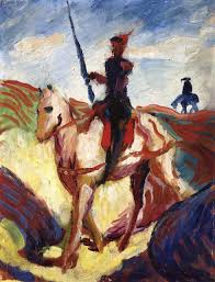 don quixote august macke oil painting