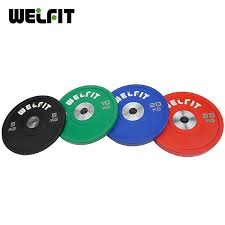 Professional gym color customized rubber weight plate set 50kg Gym Color Customized Rubber Weight Plate Set