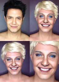 guy uses makeup to look like celebrities guy makeup10 there s a saying s say when they