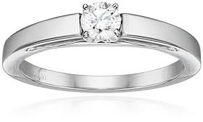 14k gold round cathedral solire diamond ring amazon