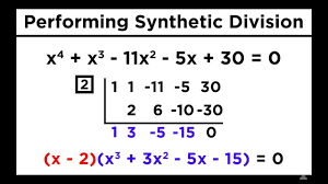 solving higher degree polynomials by synthetic division and the rational roots test