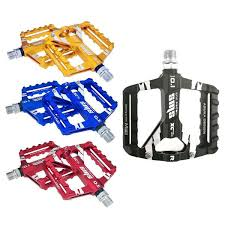 <b>1Pair Bike Aluminum</b> Alloy MTB Mountain Road <b>Pedals</b> Flat Platform ...