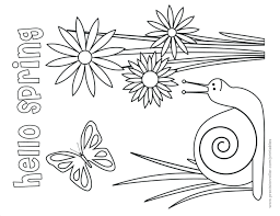 Coloring Pages Full Size Of Coloring Spring Templates With