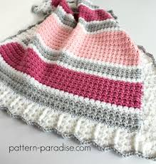 Free Crochet Baby Blanket Patterns Delectable Free Crochet Pattern Essentials Baby Blanket Pattern Paradise