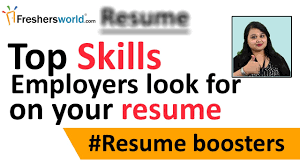 Resume Boosters Top Skills That An Employer Look For On Your Resume Skills To Be 2