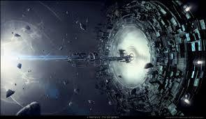 eship wormhole debris future wallpaper