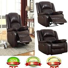 leather glider recliner large brown gliding lazy boy arm chair for living room chairs true innovations leather glider recliner