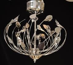 chrome crystal flush low voltage chandelier erflies