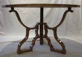 mid 20th century mid century round dining or centre hall maple table italy