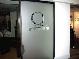 Glass Office Door With Vinyl Etched Q Metrics Frosted Vinyl Privacy Door 1  Photo Frosted Vinyl Privacy Door Home Office Bookcase With Glass Doors  Office ...