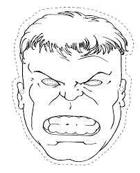 Small Picture The Head Of The Hulk Coloring Page paper craft Pinterest
