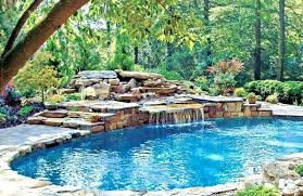 inground pools with waterfalls. Rock Waterfalls For Inground Pools Waterfall Kit Pool Flowing Into . With