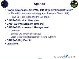 Agenda Program Manager Air Pma 201 Organizational