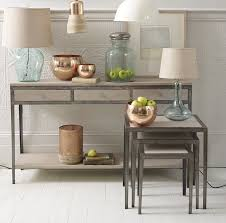 wood and metal console table with drawers  home design ideas