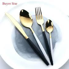 wooden handle flatware black handle flatware high grade flatware set gold polish black handle stainless steel