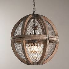 wire sphere crystal chandelier small