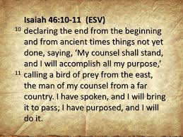 Image result for images for Isaiah 46:10