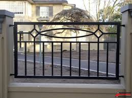 metal fence design. Standrite - Tubular Steel Fencing Hamilton Style With Artwork (Custom) Picture 24 Metal Fence Design