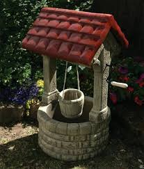 large garden ornaments stone wishing well feature for