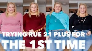 Affordable Plus Size Haul Try On First Time Trying Rue 21